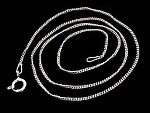 "24"" Thin Gauge Curb Link Chain, Sterling"