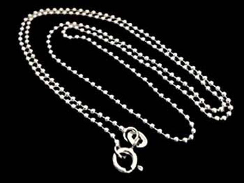 "20"" Thin Gauge 1.5mm Ball Chain, Sterling"
