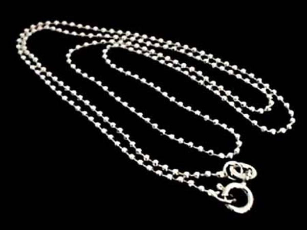 "16"" Thin Gauge 1.5mm Cut Ball Chain, Sterling"