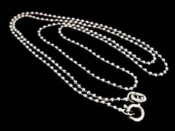 "20"" Thin Gauge 1.5mm Cut Ball Chain, Sterling"