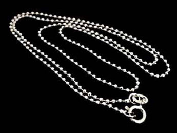 "30"" Thin Gauge 1.5mm Cut Ball Chain, Sterling"