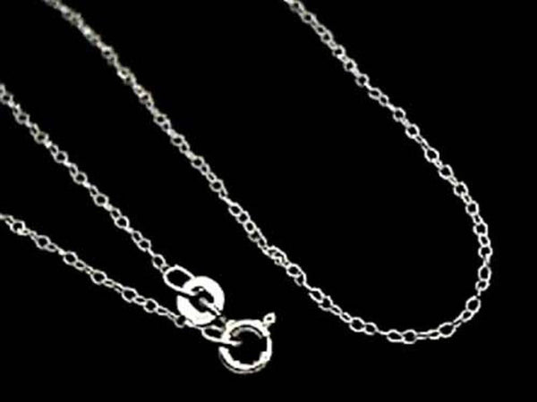 "16"" Thin Gauge Cable Chain, Sterling Silver"