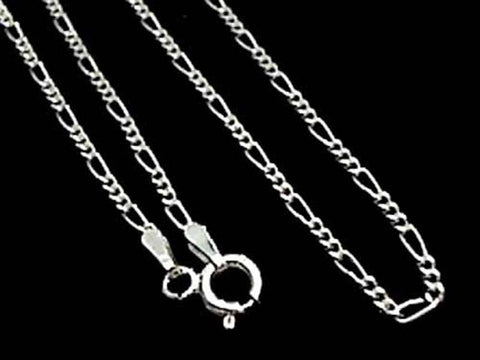 "24"" Thin Gauge 1.5mm Figaro Chain, Sterling"