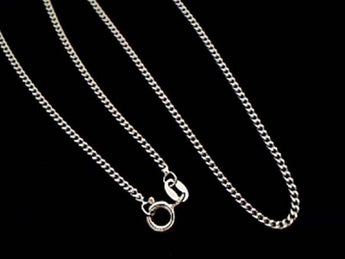 "24"" Medium Gauge Sterling Silver Curb Link Chain"
