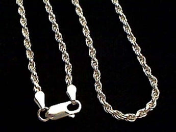 "16"" Thick Gauge 2.5mm Rope Chain, Sterling"