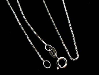"16"" Thin Gauge .8mm Box Chain, Sterling"