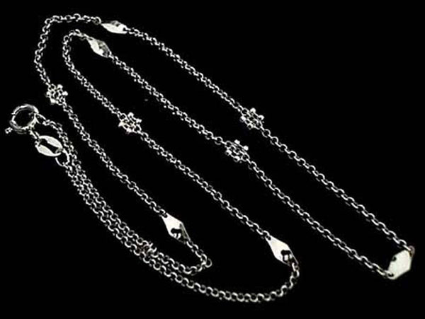 "18"" Deco Chain #2, Sterling Silver, Thin"