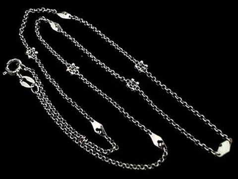 "16"" Deco Chain #2, Sterling Silver, Thin"