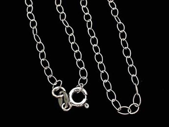 "16"" Sterling Silver 2.5mm Light Open Link Chain"