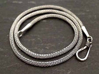"16"" Bali Woven Rope Chain 2.5mm, Sterling Silver"