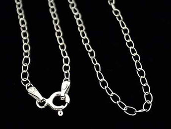 "20"" Sterling Silver 1.5mm Light Open Link Chain"