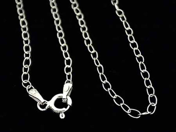 "18"" Sterling Silver 1.5mm Light Open Link Chain"