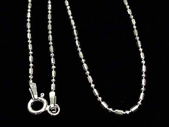 "20"" Sterling Silver 1mm Di-Cut ""1 and 1"" Chain"