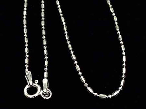 "16"" Sterling Silver 1mm Di-Cut ""1 and 1"" Chain"