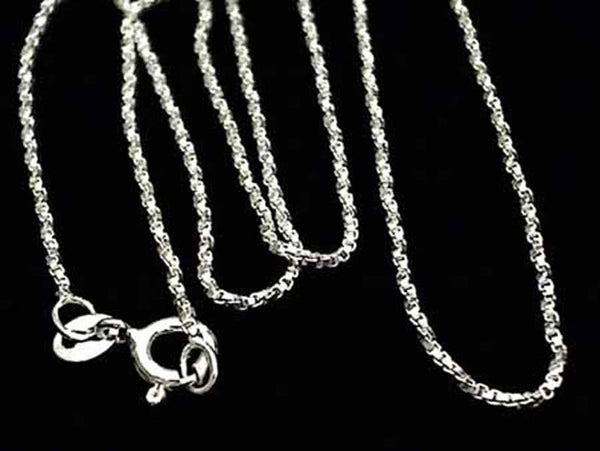 "24"" Di-Cut Twisted 1mm Sterling Silver Chain"