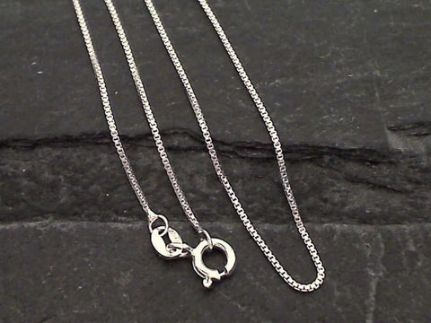 "20"" Thin Gauge .9mm Box Chain - Sterling Silver"