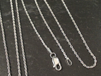 "24"" Thin Gauge 1.25mm Rope Chain, Sterling"