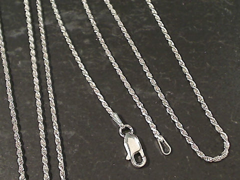 "16"" Thin Gauge 1.25mm Rope Chain, Sterling"