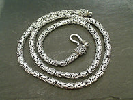 "20"" Sterling 4x2.5mm Bali Byzantine Chain"