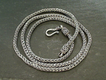 "22"" Sterling 2.5mm Bali Woven Chain"