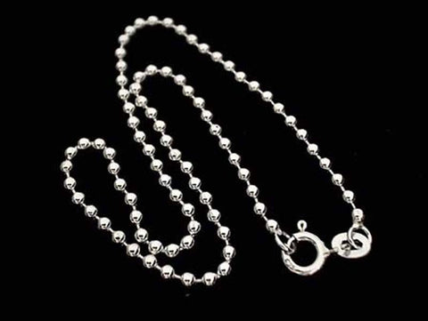 "9.5"" Sterling Silver 2mm Ball Style Anklet"