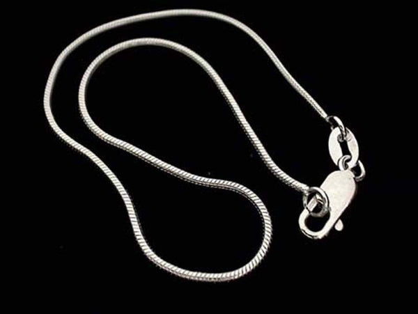 "9"" Sterling Silver 1mm Snake Anklet"