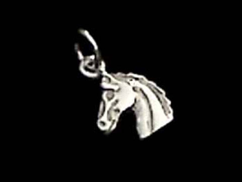 STERLING SILVER NAGS HEAD CHARM