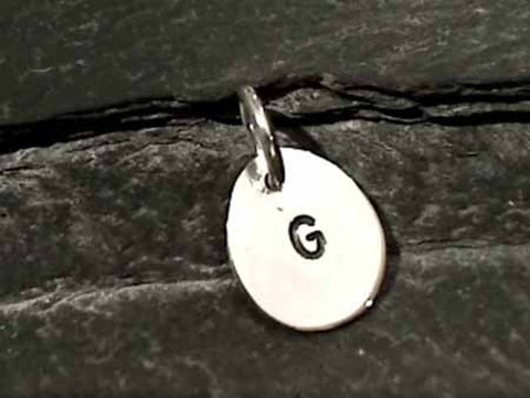 "Sterling Silver Letter ""G"" Charm"
