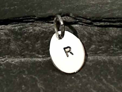 "Sterling Silver Letter ""R"" Charm"