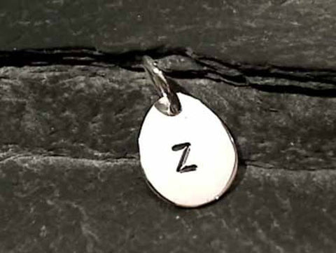 "Sterling Silver Letter ""Z"" Charm"