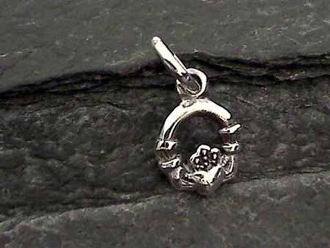 Sterling Silver Celtic Claddagh Charm