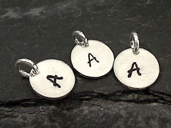 Letter A Charm, Sterling Silver