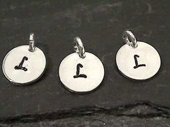 Letter L Charm, Sterling Silver