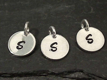 Letter S Charm, Sterling Silver