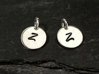 Letter Z Charm, Sterling Silver