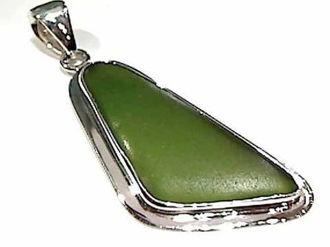 Recycled Glass, .950 Fine Sterling Pendant