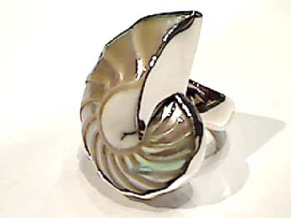ADJUST. SIZE, NAUTILUS SHELL RING