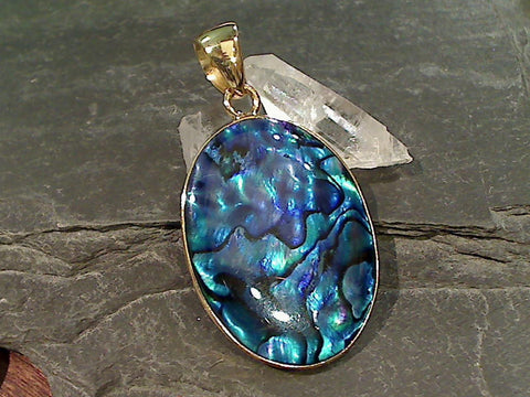 Alchemia and Blue Abalone Pendant