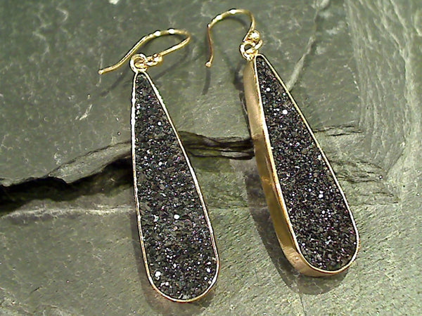 Druzy Quartz, Alchemia Earrings