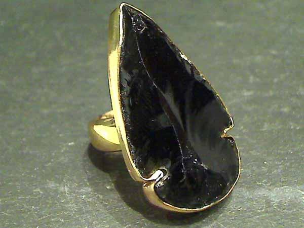 Obsidian, Alchemia Ring - Adjustable Size