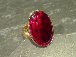 Red Abalone, Alchemia Ring - Adj. Size