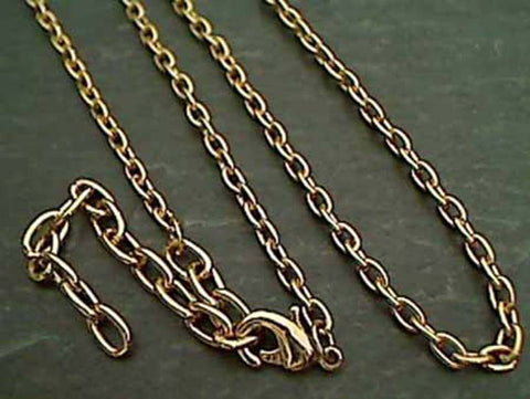 "24"" Gold Tone Open Link Chain"