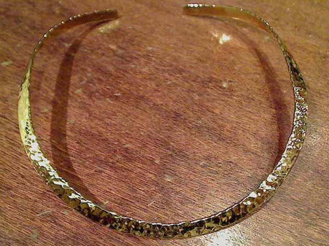 Alchemia 6mm Hammered Neck Cuff, Open Back