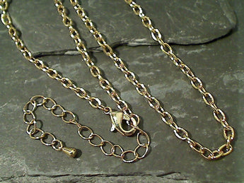 "17""-20"" Gold Tone Open Link Chain"