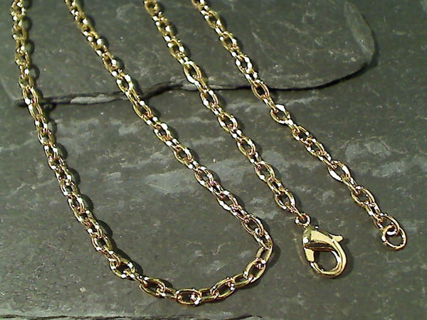 "30"" Gold Tone Open Link Chain"