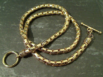 "18"" Gold Tone Thick Gauge Box Chain"