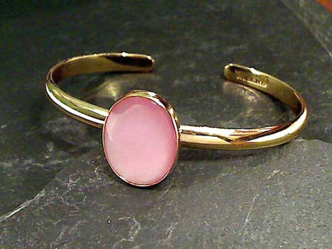 Pink Mother of Pearl, Alchemia Cuff Bracelet