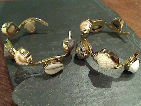 Sea Shells, Alchemia Wave Cuff Bracelet