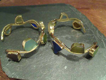 Recycled Glass, Alchemia Hammered Wave Cuff