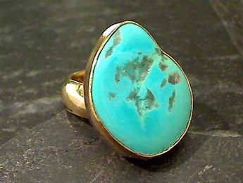 Sleeping Beauty Turquoise Alchemia Ring, Adj. Size